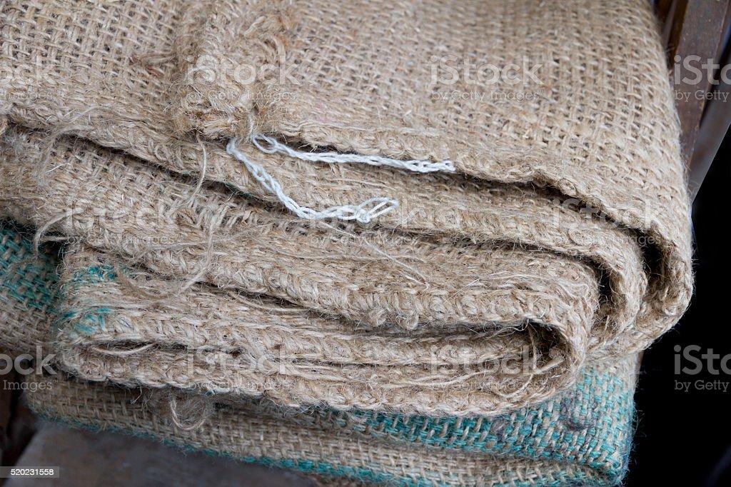 Burlap sac stock photo