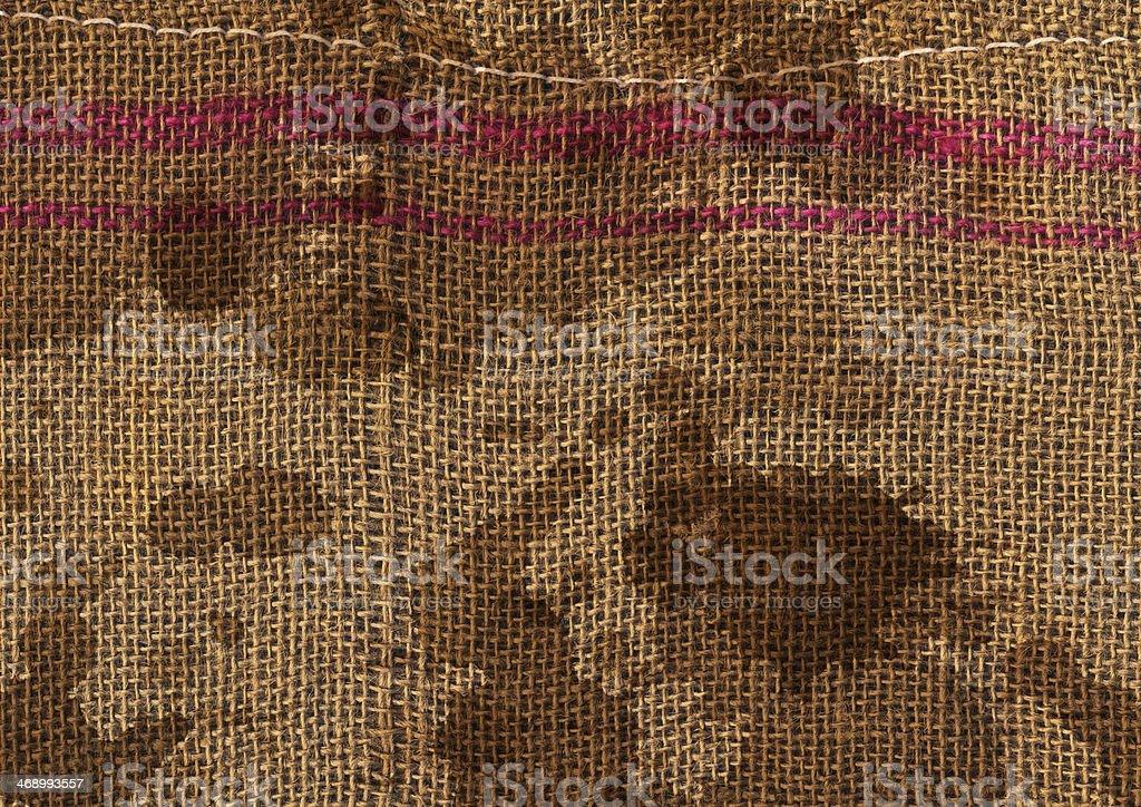 Burlap Sack Mottled Grunge Texture stock photo