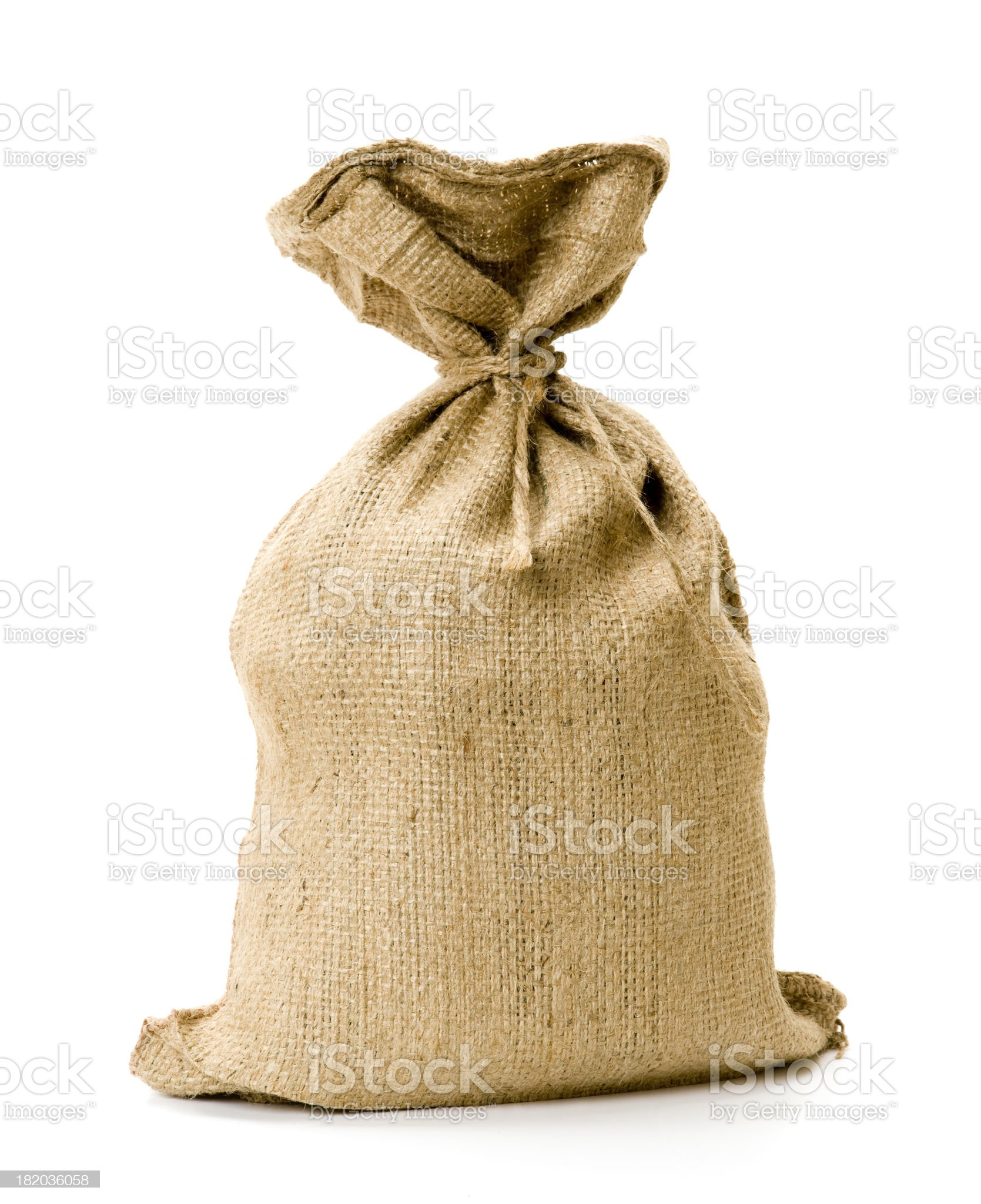 Burlap sack royalty-free stock photo