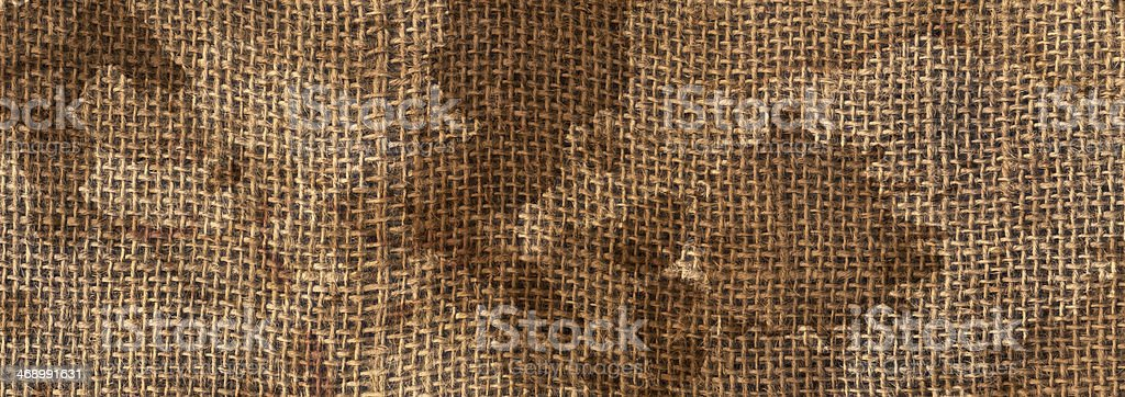 Burlap Sack Stained Grunge Texture royalty-free stock photo