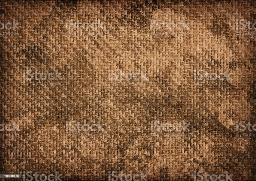 Burlap Stitched Mottled Vignette Grunge Texture stock photo