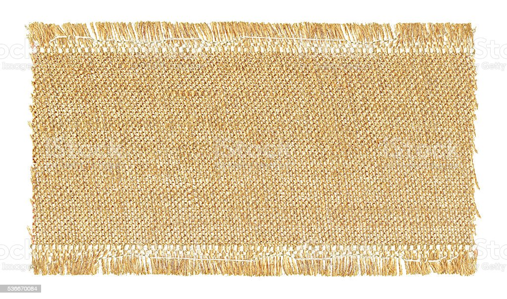 Burlap textured background isolated on white stock photo