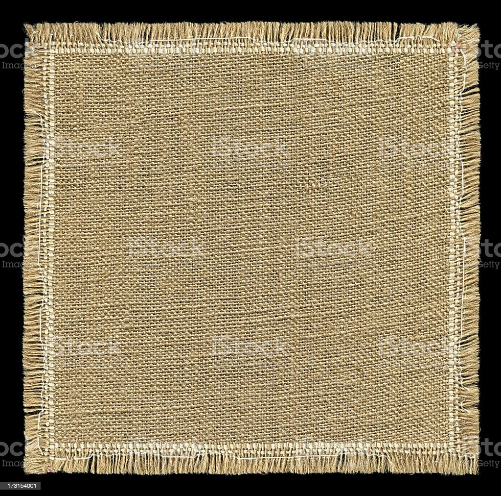 Burlap textured background with full frame isolated stock photo
