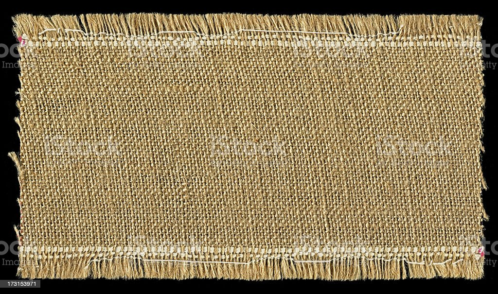 Burlap textured background with full frame stock photo