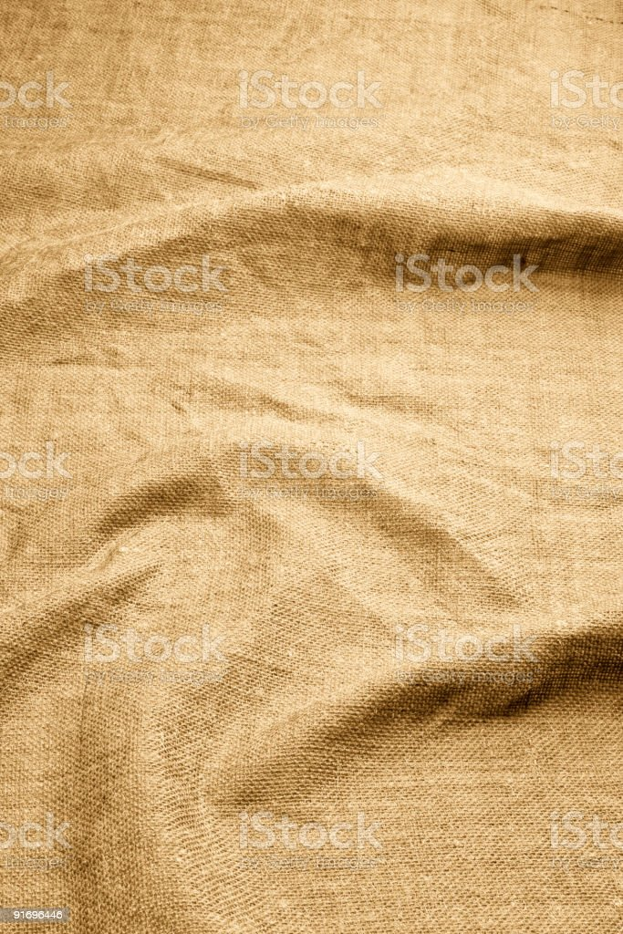 Burlap With Wavy Folds royalty-free stock photo