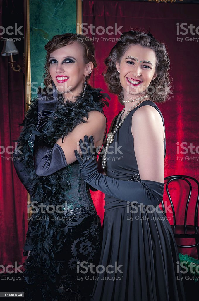 Burlesque Dancers - VII royalty-free stock photo