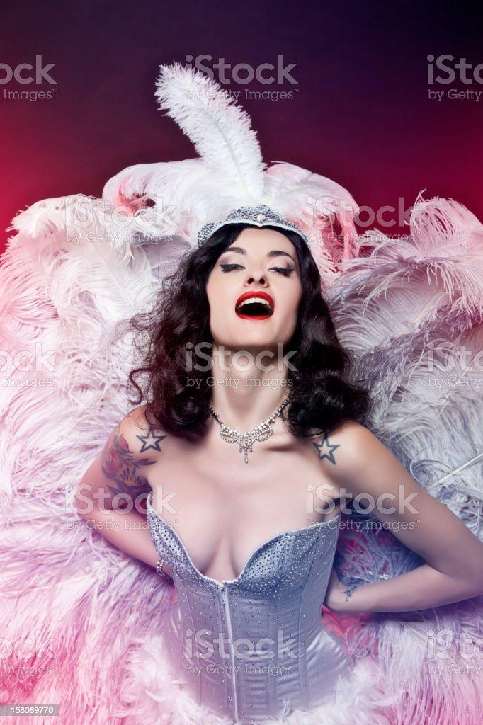 Burlesque Diva stock photo