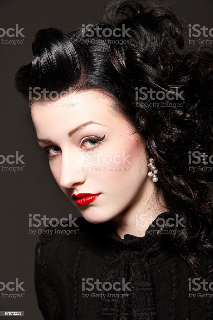 Burlesque girl royalty-free stock photo
