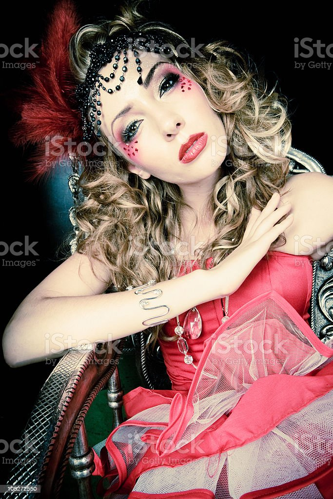 Burlesque Seductive Diva stock photo