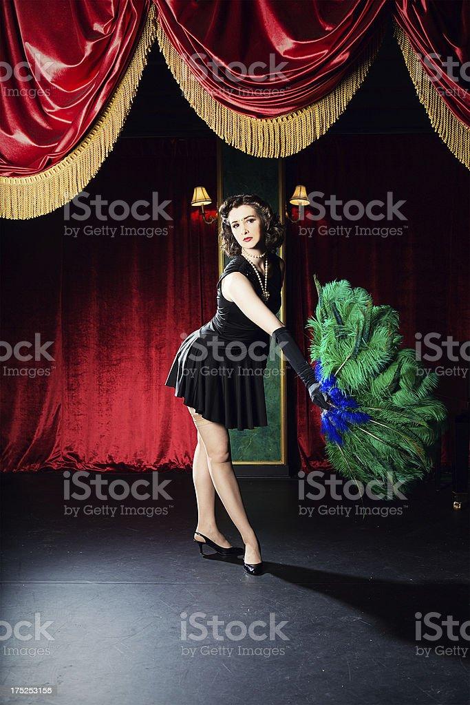 Burlesque woman stock photo