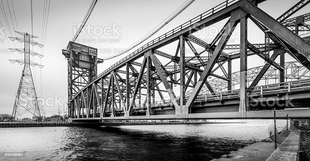 Burlington Canal Lift Bridge stock photo