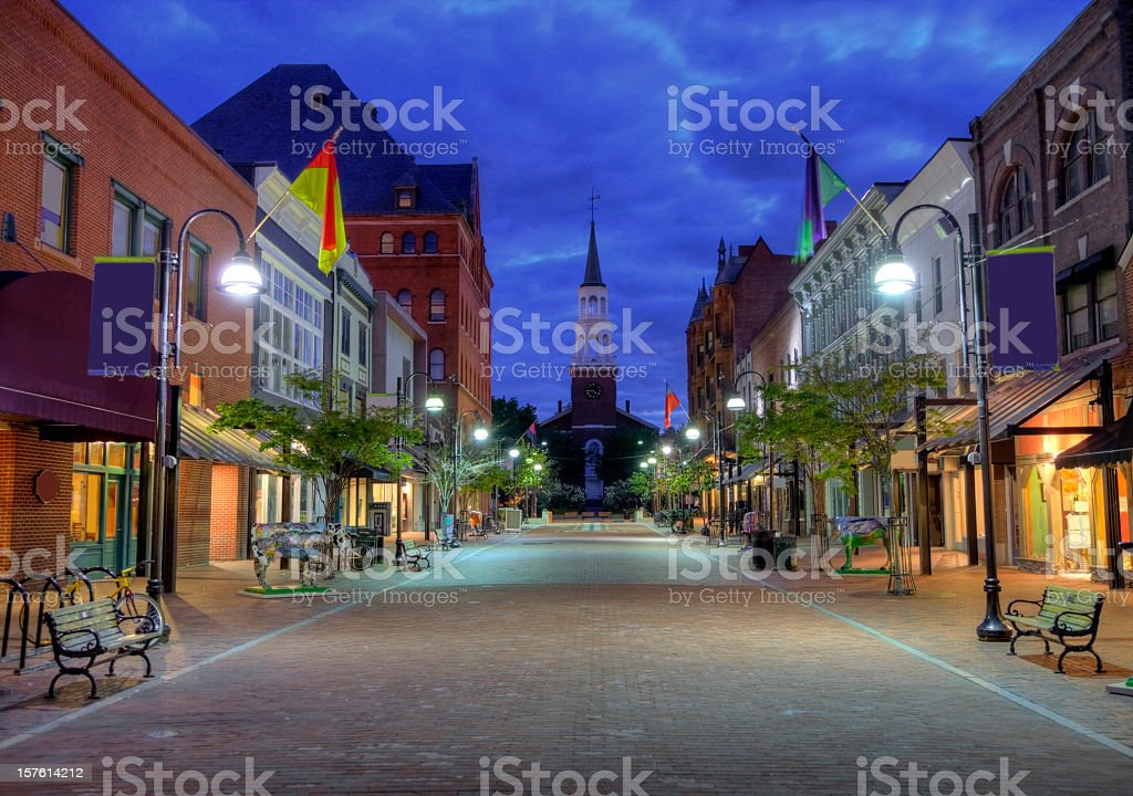 Burlington Vermont royalty-free stock photo