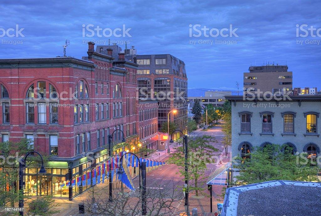 Burlington Vermont stock photo