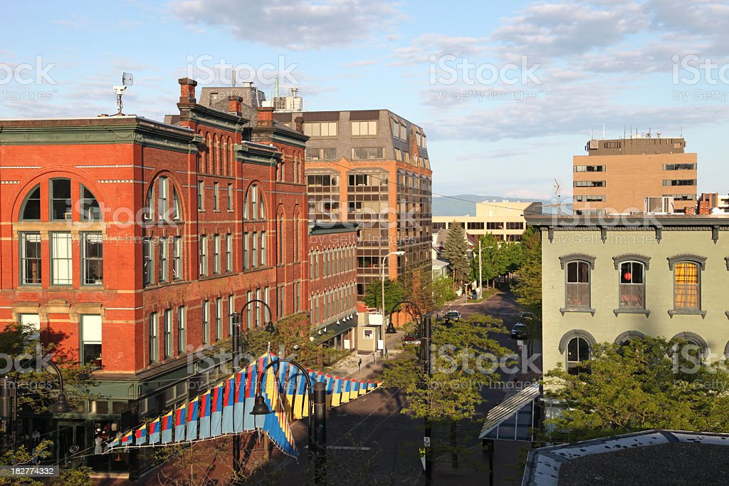 Burlington Vermont stock photo