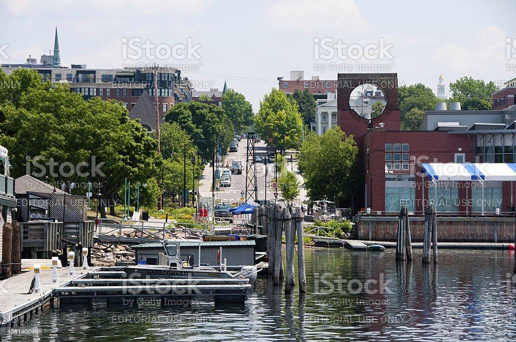 Burlington VT waterfront stock photo
