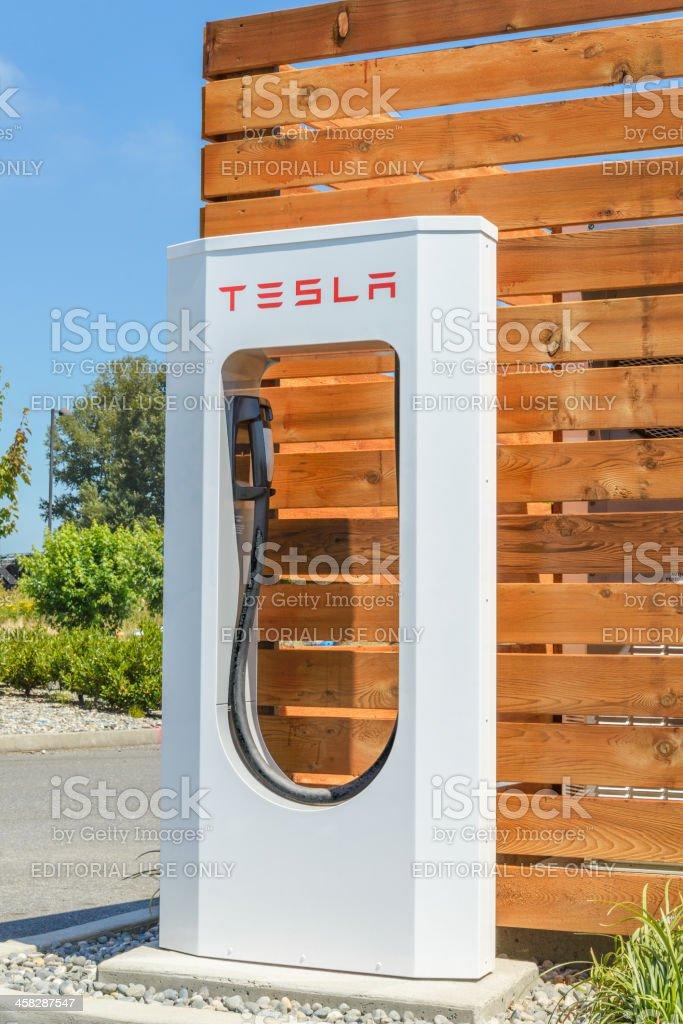 Burlington Washington Tesla Motors Supercharger Station stock photo