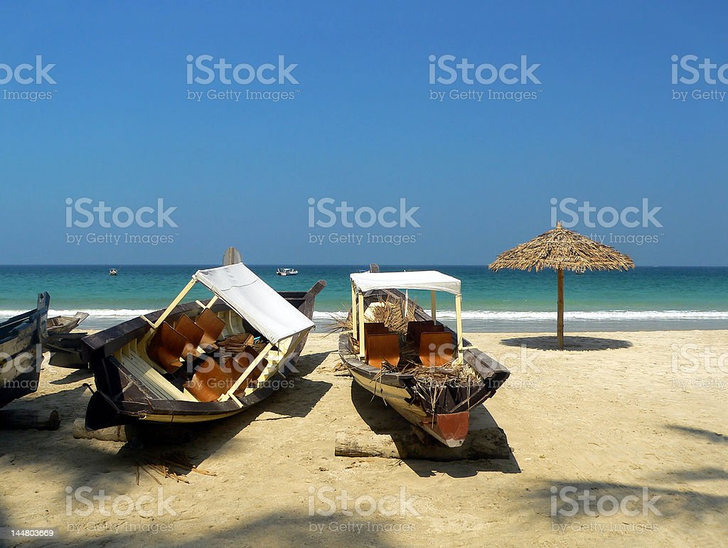 Burma. Fishing boats royalty-free stock photo