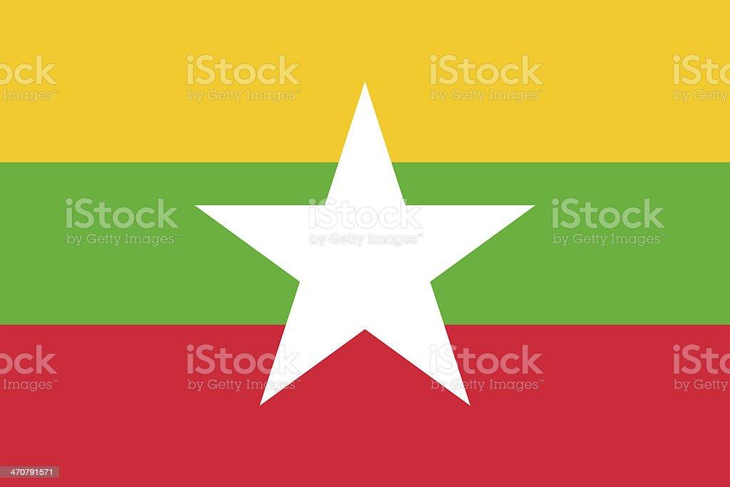 Burma Flag stock photo