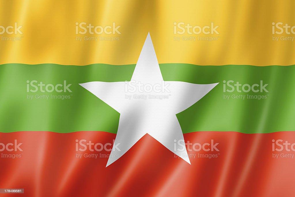 Burma Myanmar flag stock photo