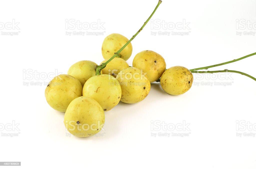 Burmese grapes isolated royalty-free stock photo