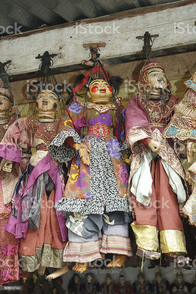 burmese marionettes royalty-free stock photo