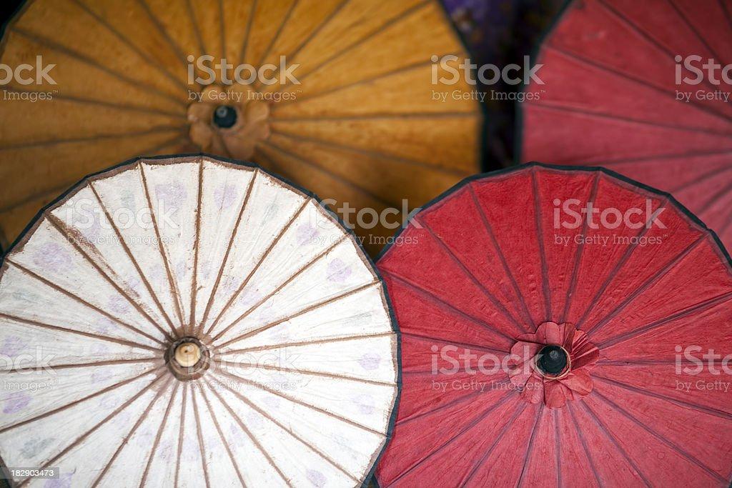 Burmese Parasols royalty-free stock photo