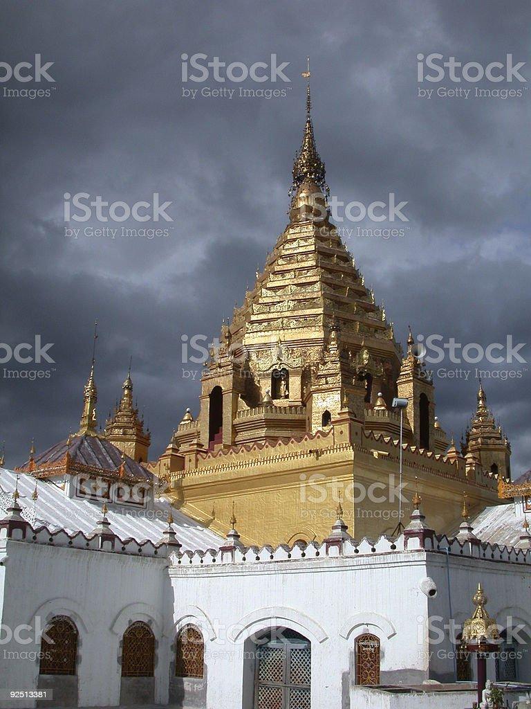 Burmese temple royalty-free stock photo
