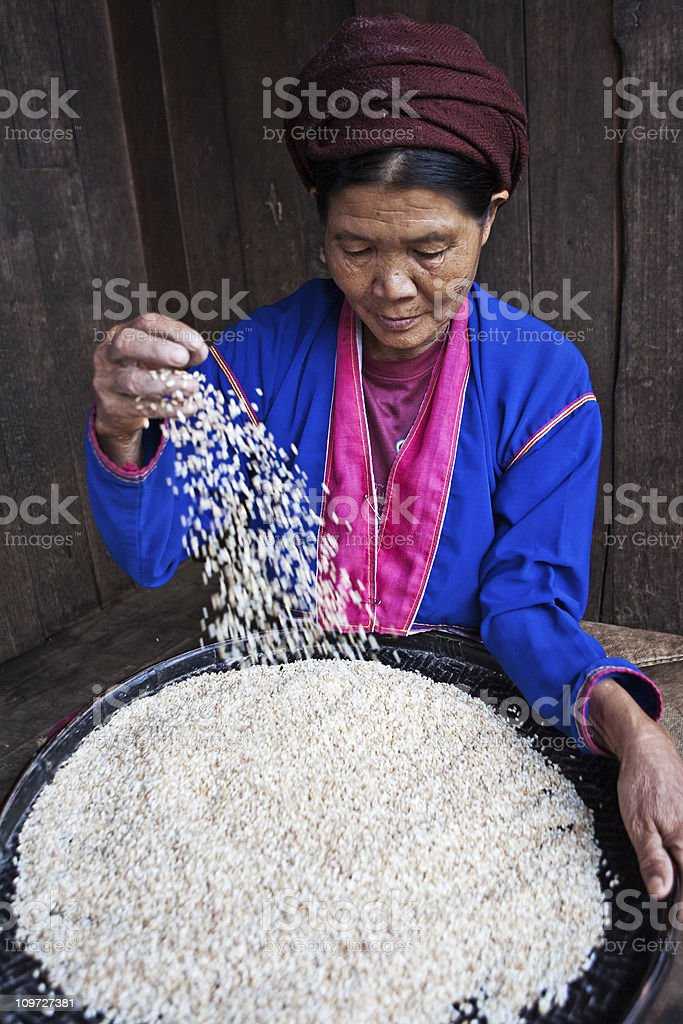 Burmese woman stock photo