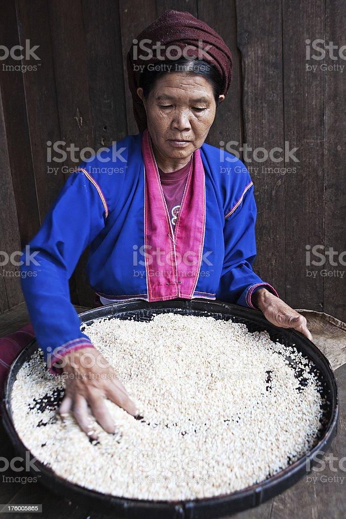 Burmese woman royalty-free stock photo