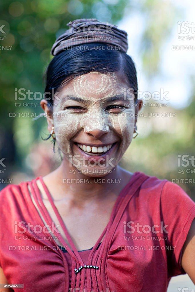 Burmese woman stock photo