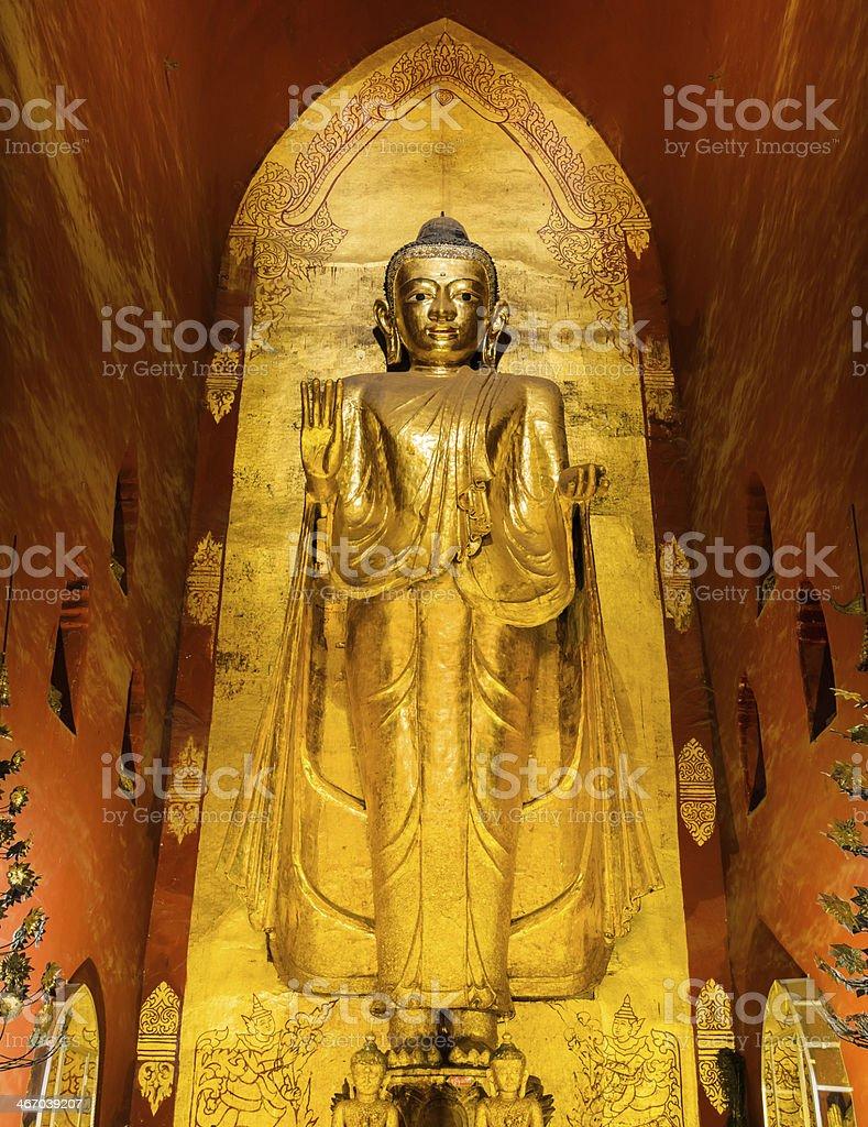 Burmest Standing Buddha stock photo