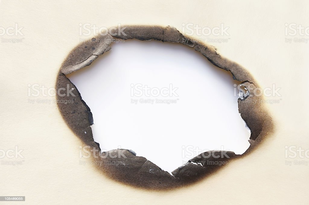 Burn Hole stock photo