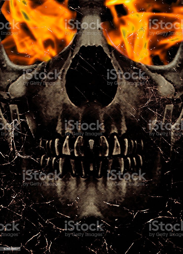 Burn in Hell stock photo