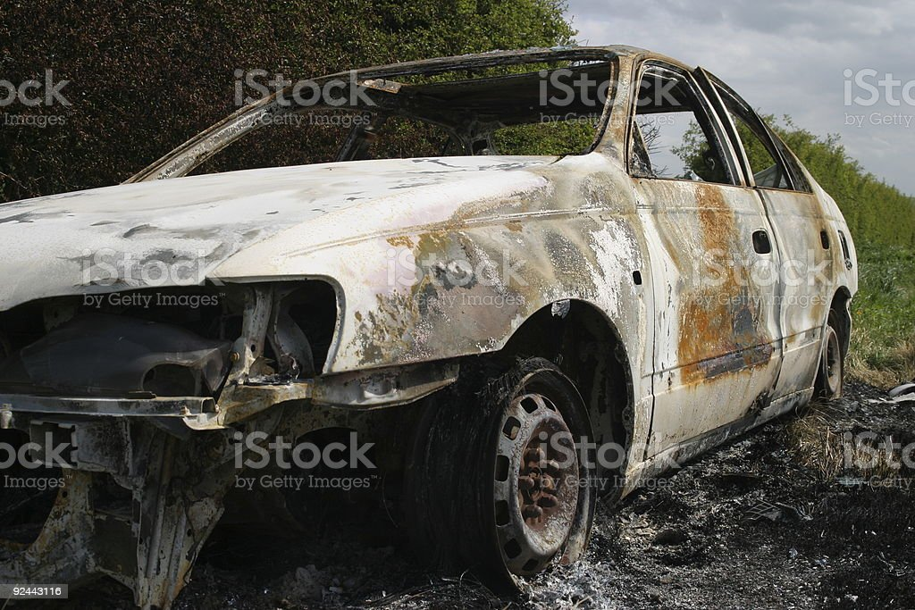 Burn Out Car1 stock photo
