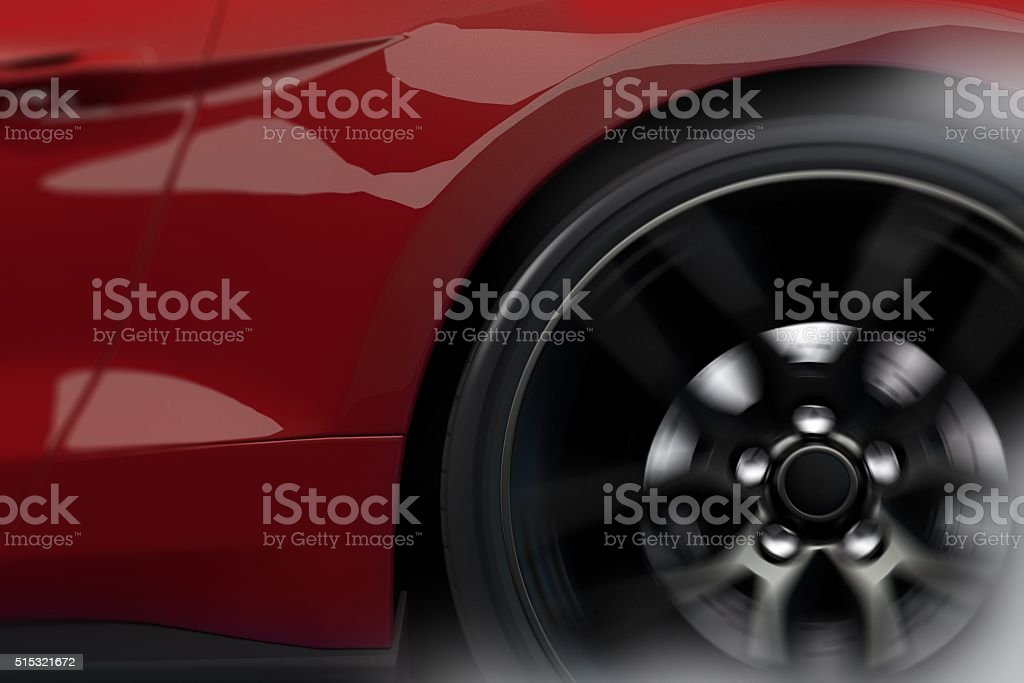 Burn Out Peel Out stock photo