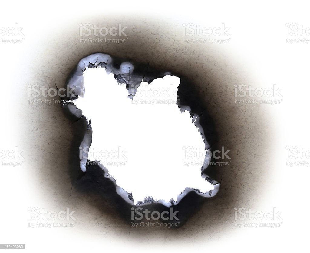Burn paper stock photo