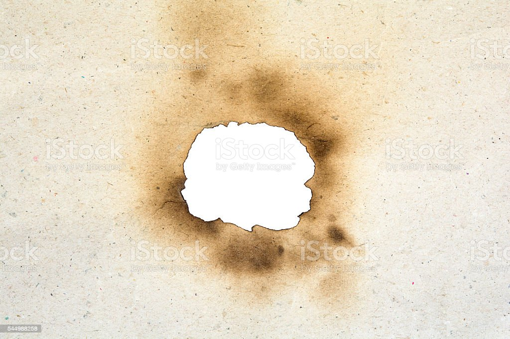burn paper tough stock photo