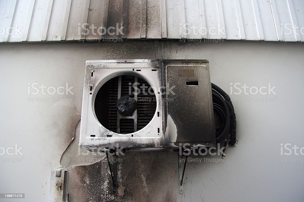 burned Air Condition royalty-free stock photo