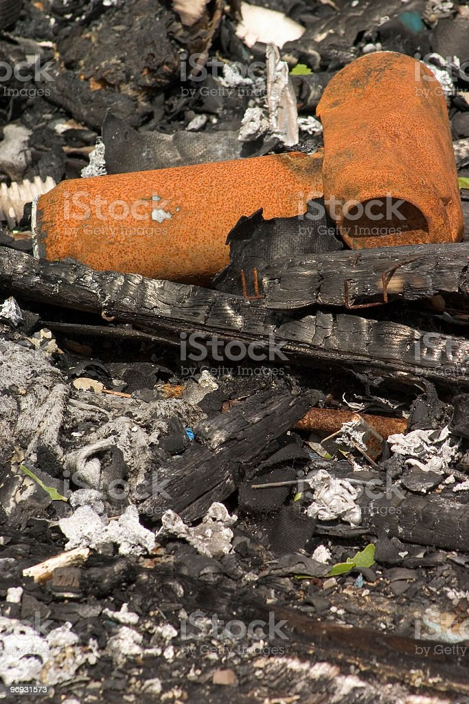 Burned cans royalty-free stock photo