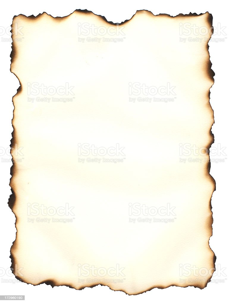 Burned Edge Paper royalty-free stock photo