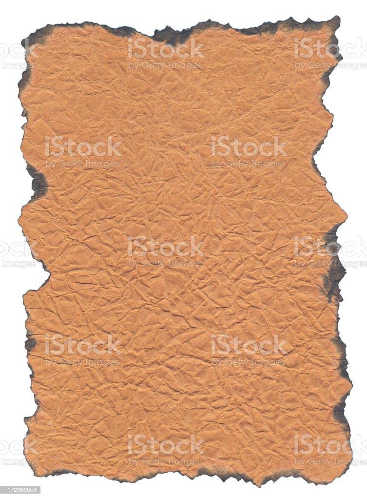 Burned Edge Paper stock photo