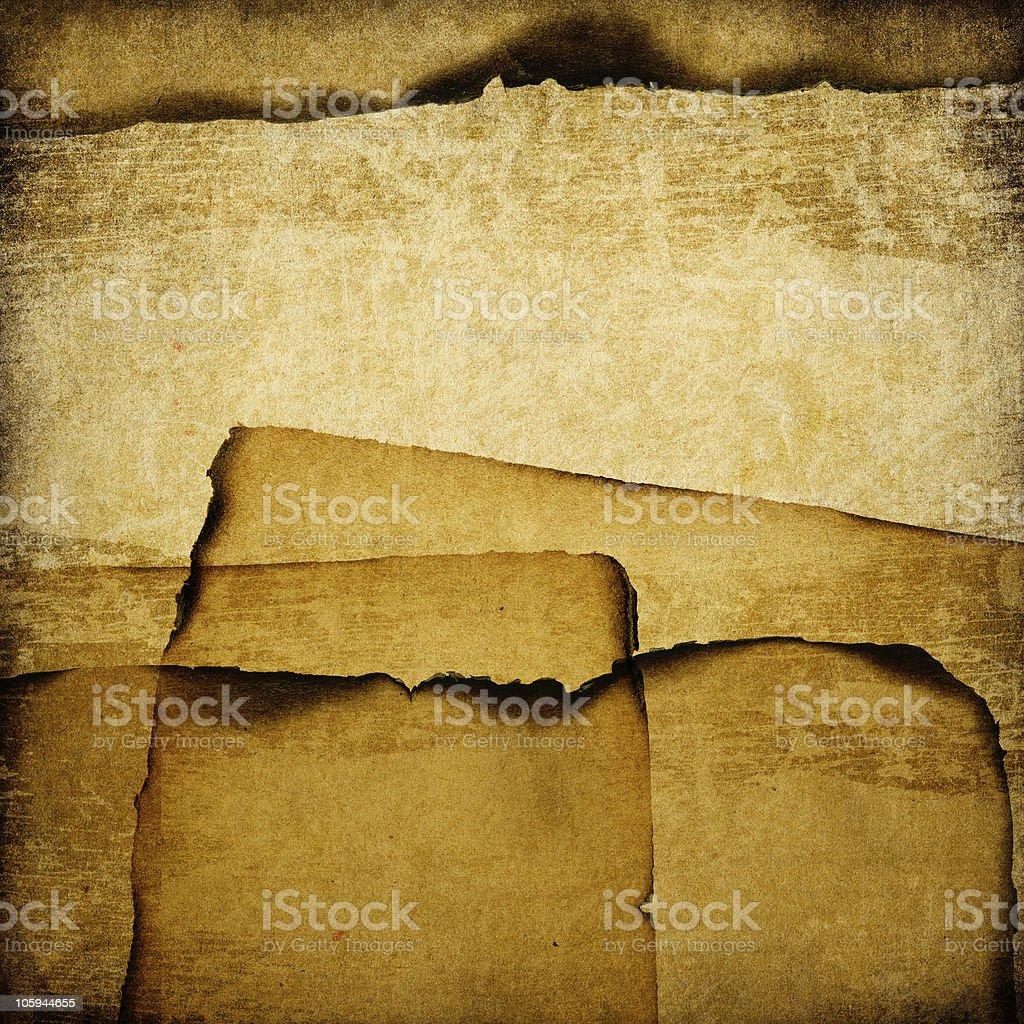 Burned Grunge Paper Background. royalty-free stock photo