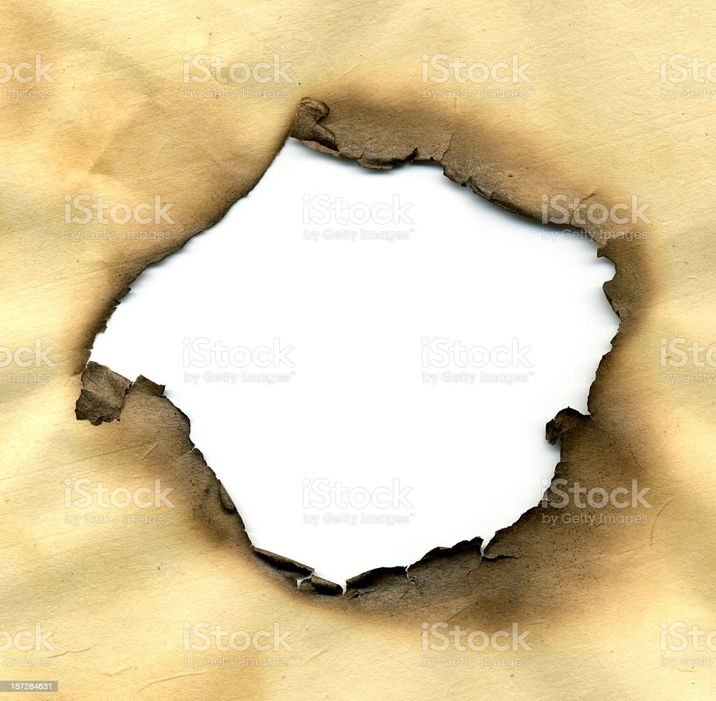 Burned Hole stock photo