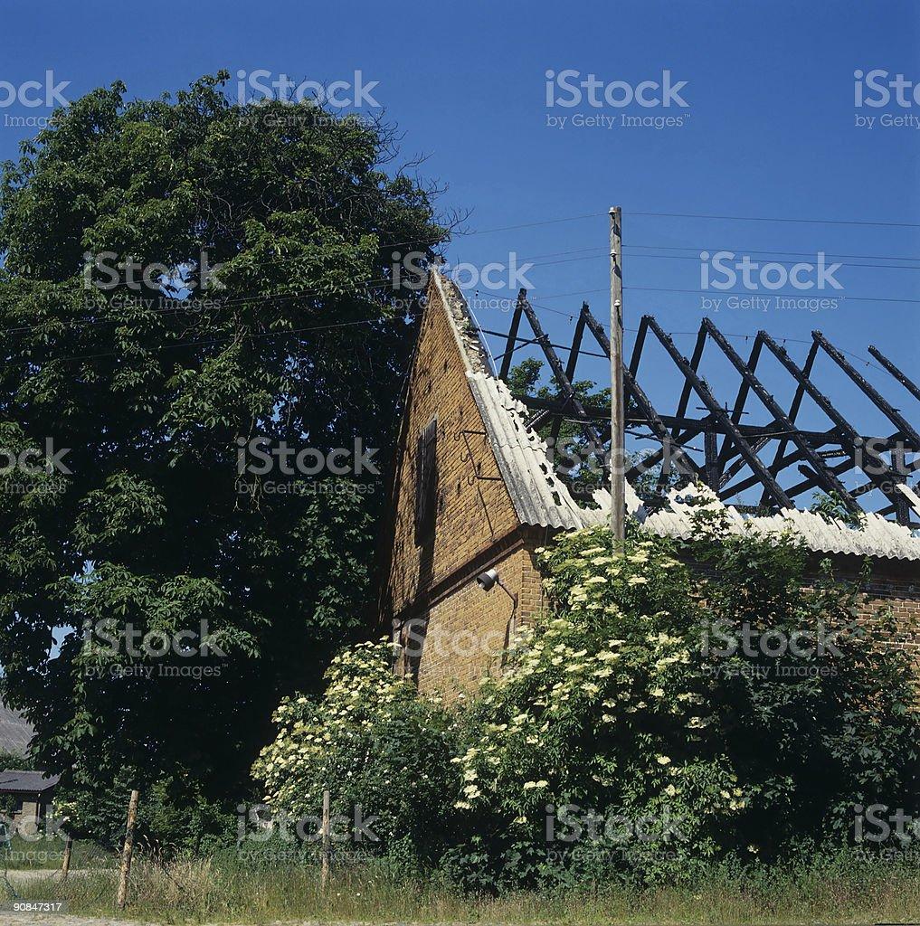 burned house royalty-free stock photo