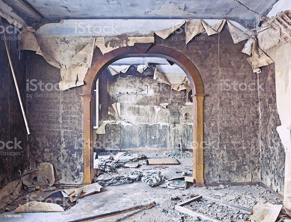 burned interior royalty-free stock photo