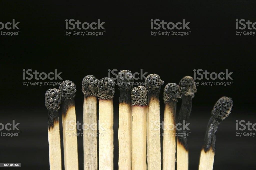 Burned Matches royalty-free stock photo