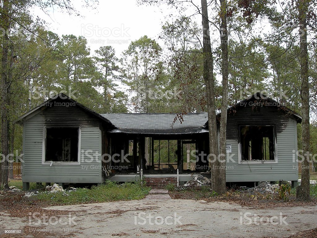 Burned Out House royalty-free stock photo