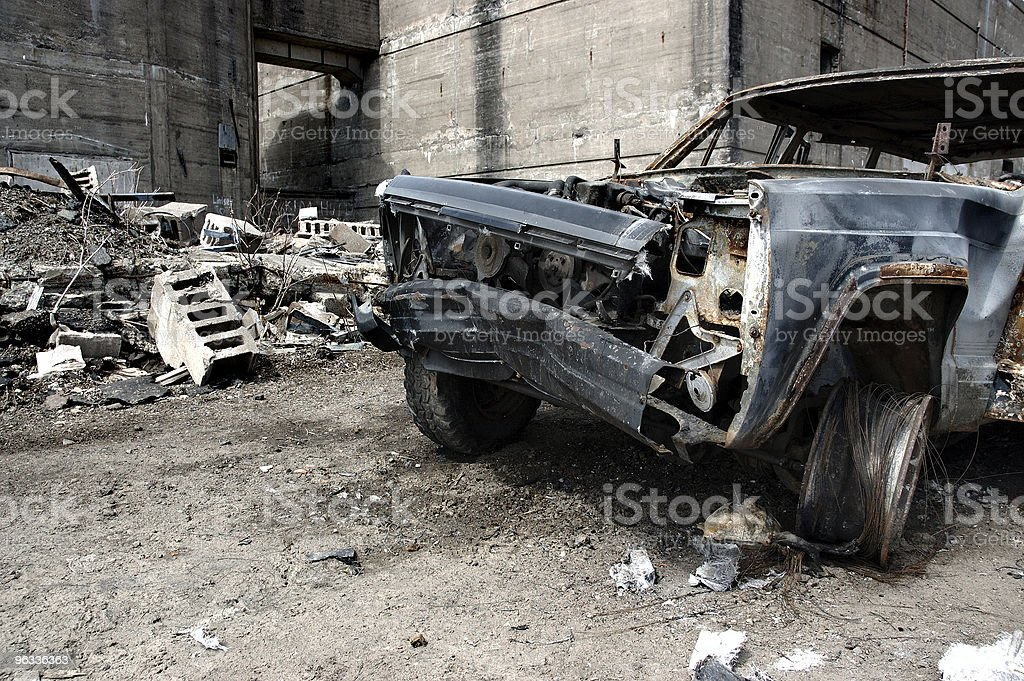 Burned out Vehicle royalty-free stock photo