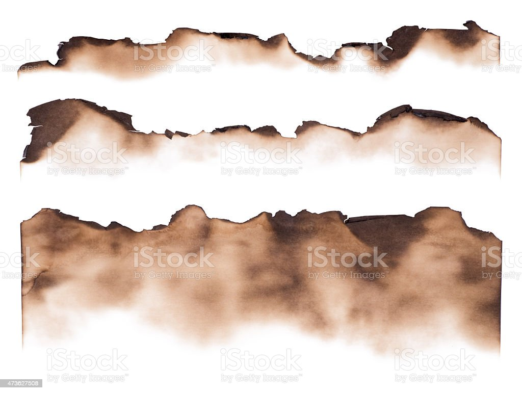 Burned paper edges stock photo