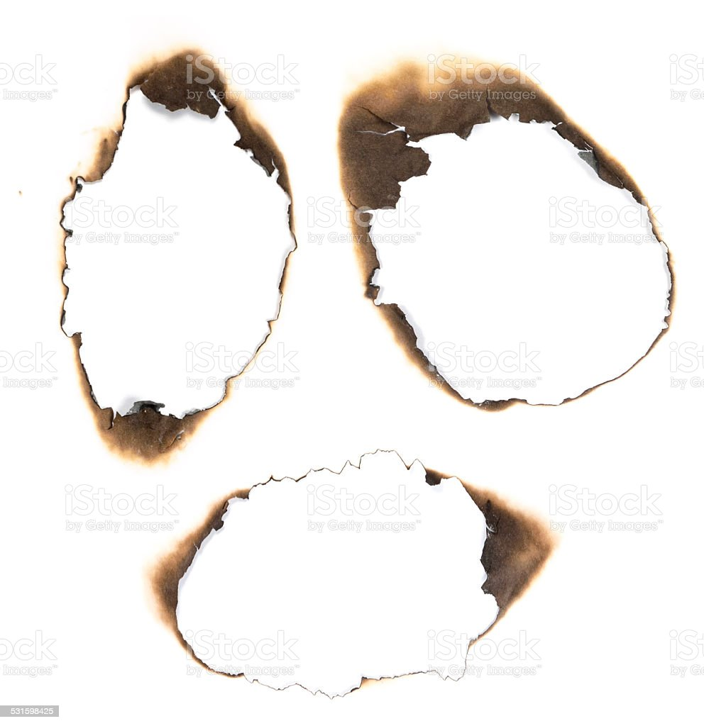 burned paper stock photo